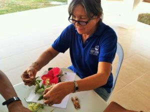 Ate Pat making flowers